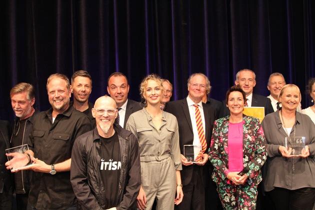 Die Preisträger des Kulturpreis - Die Fantastischen Vier und Gerhard Matthey, Hermann Roder und Hubert Knitte