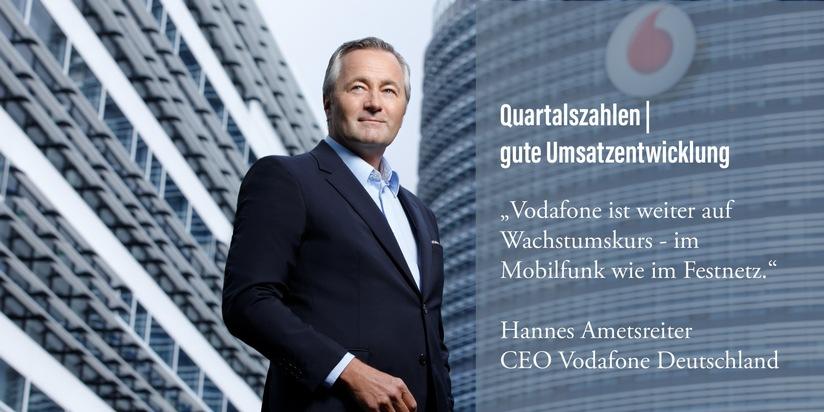 Quartalszahlen: Vodafone setzt Wachstumskurs fort