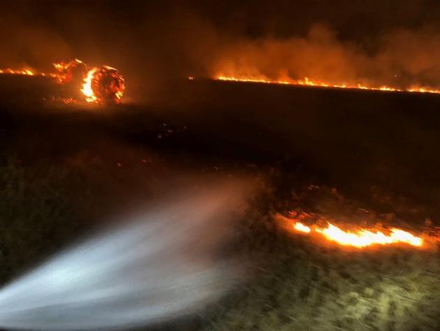 Flächenbrand auf Behlingen