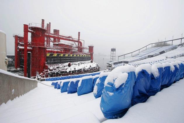Klirrender Frost statt Feuer und Flamme: Der Bregenzer Troubadour im Winterschlaf