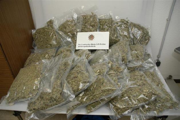 POL-REK: Zehn Kilogramm Marihuana sichergestellt