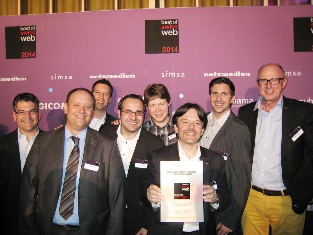 """Debrunner Koenig vince il bronzo per il """"Best of Swiss Web"""""""