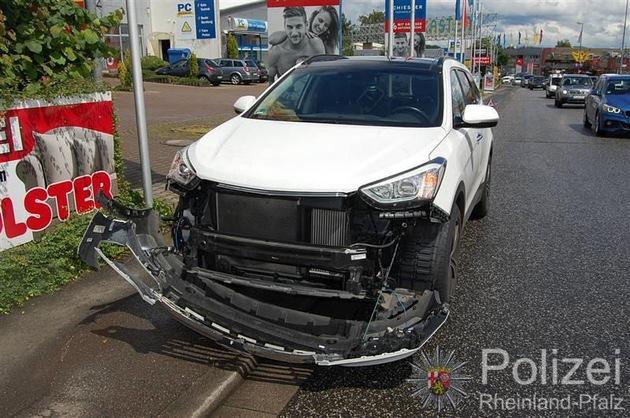 POL-PPWP: Bei Verkehrsunfall verletzt
