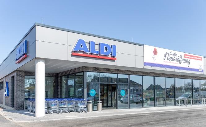"""Neuer ALDI Markt in Herten. Weiterer Text über ots und www.presseportal.de/nr/112106 / Die Verwendung dieses Bildes ist für redaktionelle Zwecke honorarfrei. Veröffentlichung bitte unter Quellenangabe: """"obs/Unternehmensgruppe ALDI Nord/Juergen Nobel"""""""