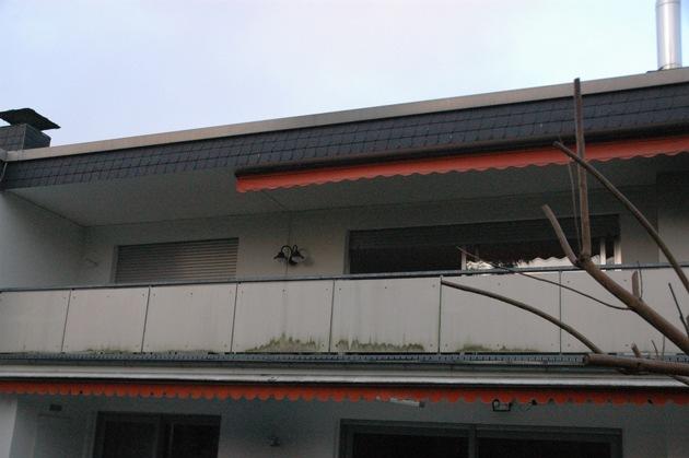 Rückseite des Gebäudes als Zugang zum Objekt