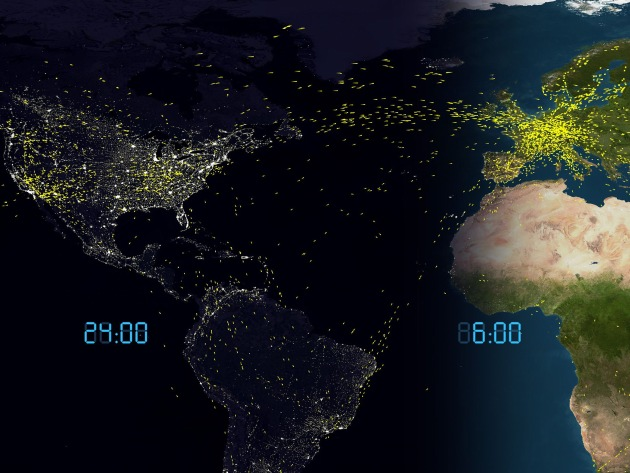 """Technorama: Eine halbe Million Clicks auf """"AirTraffic Worldwide"""" auf YOUTUBE"""