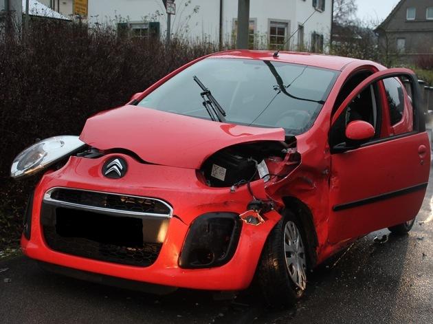 POL-OE: Unfall mit Personen- und Sachschaden