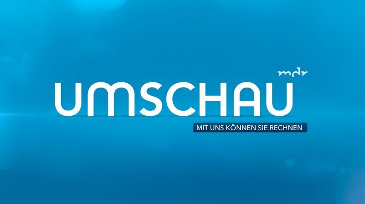 """UMSCHAU - Logo mit Claim. Weiterer Text über ots und www.presseportal.de/nr/129256 / Die Verwendung dieses Bildes ist für redaktionelle Zwecke honorarfrei. Veröffentlichung bitte unter Quellenangabe: """"obs/MDR Exklusiv-Meldung"""""""