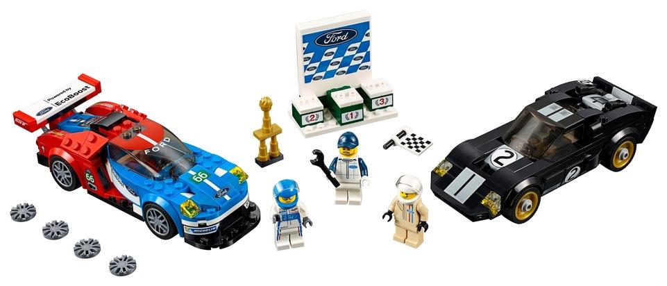 """Dieses Geschenk umspannt einen Zeitraum von 50 Jahren und begeistert nicht nur Kinder für die Welt des Motorsports: Die beiden Ford-Rennfahrzeuge, die 1966 und 2016 das legendäre 24-Stunden-Langstreckenrennen in Le Mans gewonnen haben, sind ab sofort als Bausatz in der exklusiven LEGO-Speed Champions-Reihe erhältlich. Der Bausatz aus konventionellen Legosteinen besteht aus dem aktuellen Ford GT-Rennwagen und seinem berühmten Vorfahren - dem Ford GT40 aus dem Jahr 1966. Zusätzlich runden Mini-Figuren sowie Accessoires wie etwa eine Start-Ziel-Flagge und ein Siegerpokal das kreative Spielerlebnis ab. Der Bausatz ist ab sofort zum Preis von 34,99 Euro (unverbindliche Preisempfehlung) bestellbar. Weiterer Text über ots und www.presseportal.de/nr/6955 / Die Verwendung dieses Bildes ist für redaktionelle Zwecke honorarfrei. Veröffentlichung bitte unter Quellenangabe: """"obs/Ford-Werke GmbH"""""""