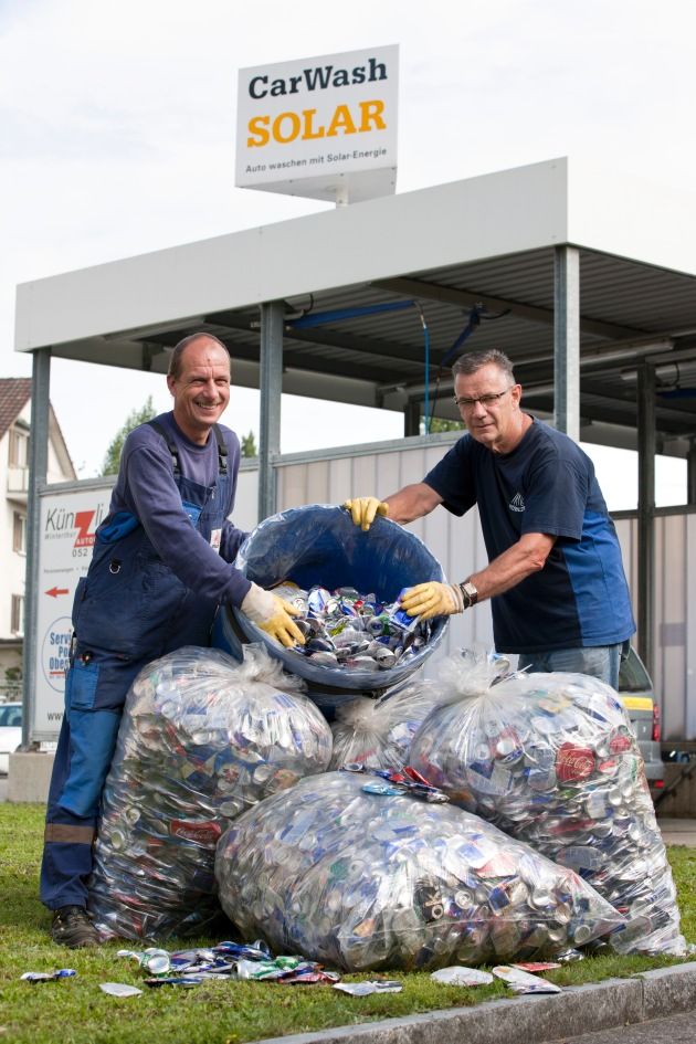 Immer mehr Aluverpackungen im Recycling / Grosse Tage im Alusammeln in Pieterlen, Zuckenriet und Winterthur