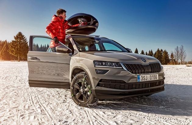 Mit SKODA sicher und bequem in den Skiurlaub
