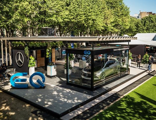 """Mercedes EQ. Weiterer Text über ots und www.presseportal.ch/de/nr/100001544 / Die Verwendung dieses Bildes ist für redaktionelle Zwecke honorarfrei. Veröffentlichung bitte unter Quellenangabe: """"obs/Mercedes-Benz Schweiz AG/THOMAS BURBLIES"""""""