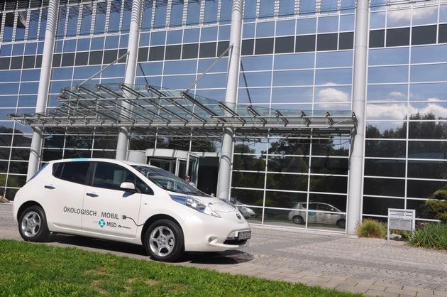 Seit 2016 können die Mitarbeiter des Gesundheitsunternehmens MSD auch mit Elektroautos fahren - dienstlich und privat. Copyright MSD, Abdruck honorarfrei / Weiterer Text über ots und www.presseportal.de/nr/6603