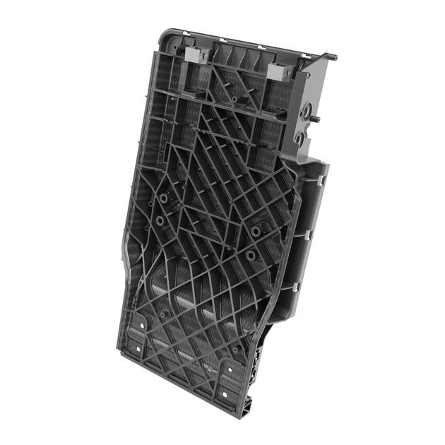 Die Brose Rücksitzdurchlade aus Organoblech spart im Vergleich zu herkömmlichen Varianten aus Stahl 1,5 Kilogramm Gewicht ...