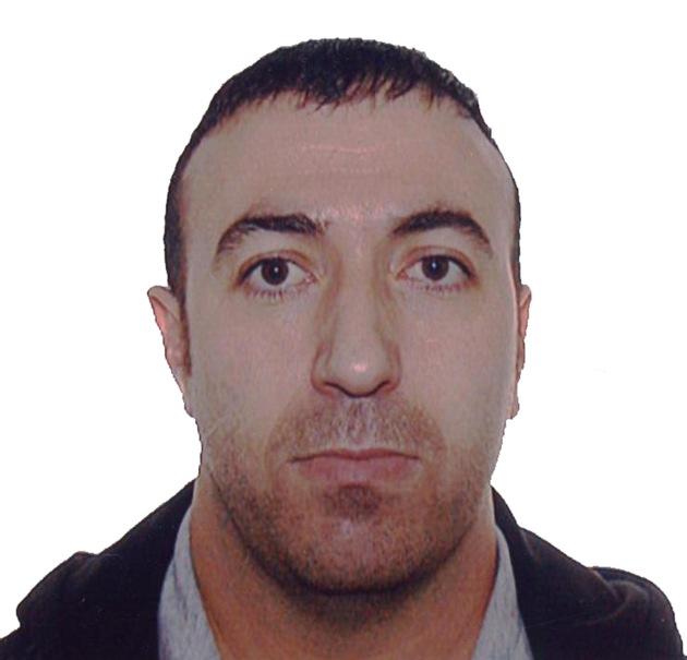 Polizeiliches Archivbild der Fahndung aus dem Jahr 2012 zeigt Resat Özdemir aus Velbert