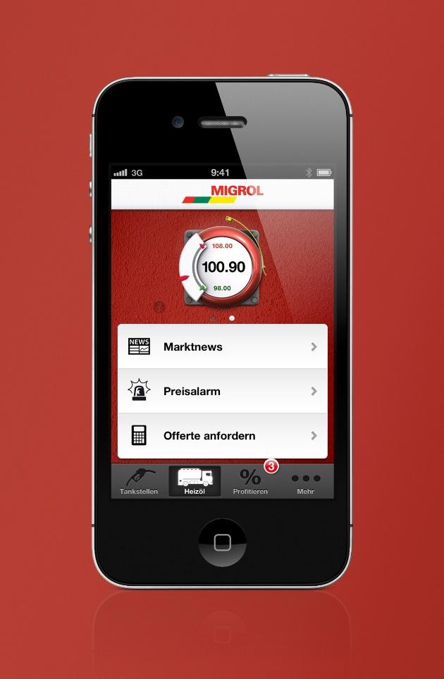 Migrol jetzt mit iPhone App