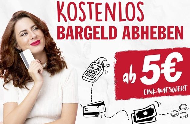 NORMA zahlt das gewünschte Bargeld jetzt schon ab einem Einkaufsbetrag von lediglich 5 Euro aus! / Lebensmittel-Discounter macht den Bargeld-Service noch bequemer