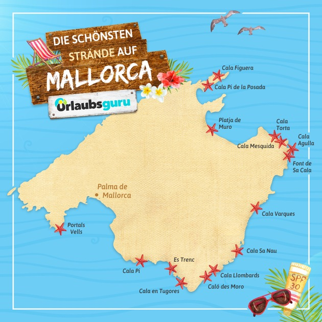 Die schönsten Strände und Buchten Mallorcas im Überblick. Foto: Urlaubsguru
