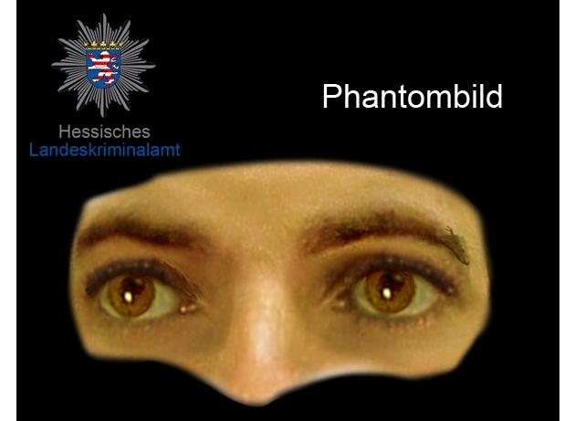 Augenpartie des unbekannten Täters - Phantombild