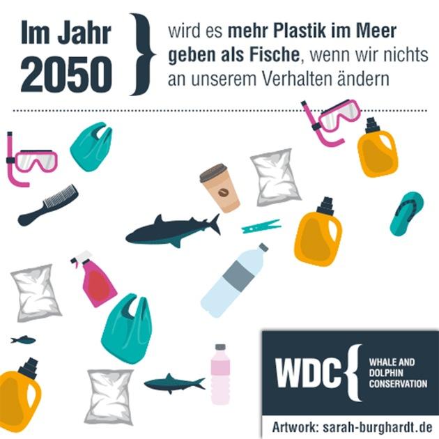 """BRITA und die Wal- und Delfinschutzorganisation WDC setzen sich gemeinsam für den Schutz der Ozeane vor Plastikmüll ein / Im Jahr 2050 wird es mehr Plastik im Meer geben als Fische, wenn wir nichts an unserem Verhalten ändern. Weiterer Text über ots und www.presseportal.de/nr/29333 / Die Verwendung dieses Bildes ist für redaktionelle Zwecke honorarfrei. Veröffentlichung bitte unter Quellenangabe: """"obs/BRITA GmbH/Sarah Burghardt"""""""