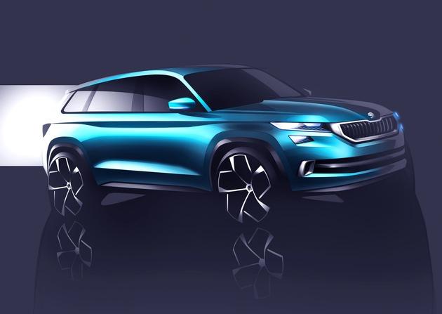 SUV-Designstudie SKODA VisionS feiert Premiere in Genf