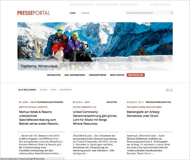 Das neue Presseportal ist online (BILD)