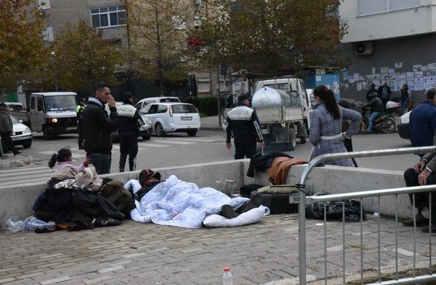 Erdbeben Albanien: Menschen sind Wetter und Kälte schutzlos ausgeliefert / Bündnisorganisationen von