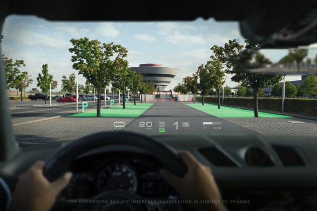 """WayRay erhält in seiner Serie-C-Finanzierungsrunde, angeführt von Porsche und mit Begleitung von Hyundai Motor, JVCKENWOOD und weiteren Investoren, 80 Millionen Dollar (68,5 Millionen Euro) / WayRay entwickelt und vertreibt holographische AR-Lösungen, die virtuelle Objekte nahtlos in die reale Welt rund ums Auto integrieren. Weiterer Text über ots und www.presseportal.de/nr/132070 / Die Verwendung dieses Bildes ist für redaktionelle Zwecke honorarfrei. Veröffentlichung bitte unter Quellenangabe: """"obs/(c) WayRay"""""""