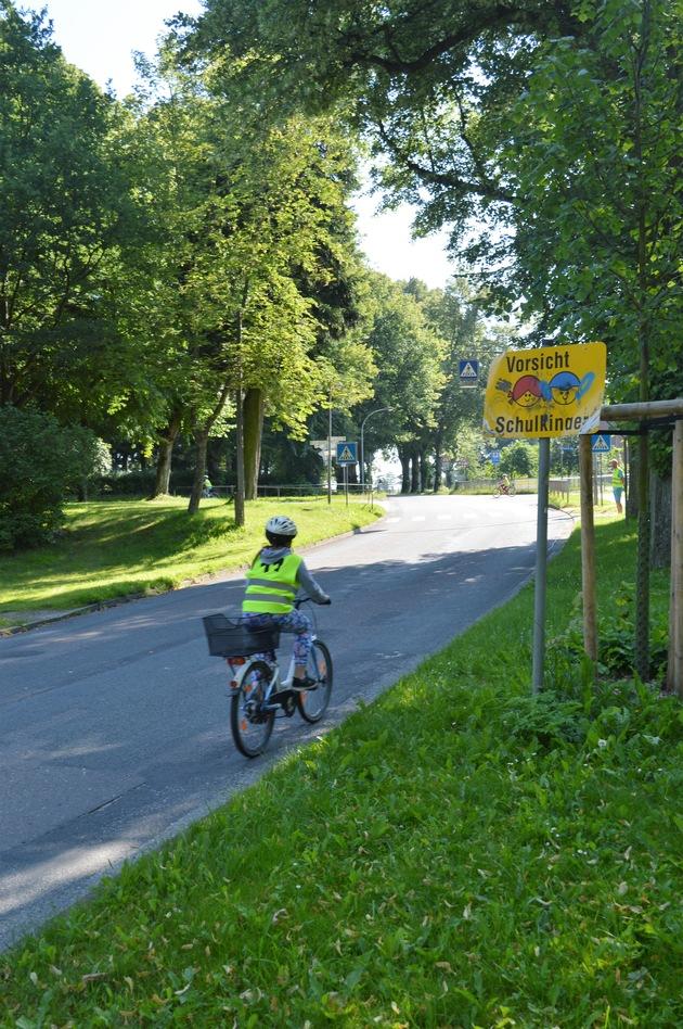 Unter anderem im öffentlichen Straßenverkehr zeigten Kinder ihr Können.