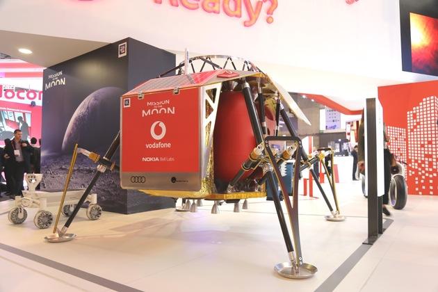 Vodafone und Nokia entwickeln das erste LTE-Netz auf dem Mond