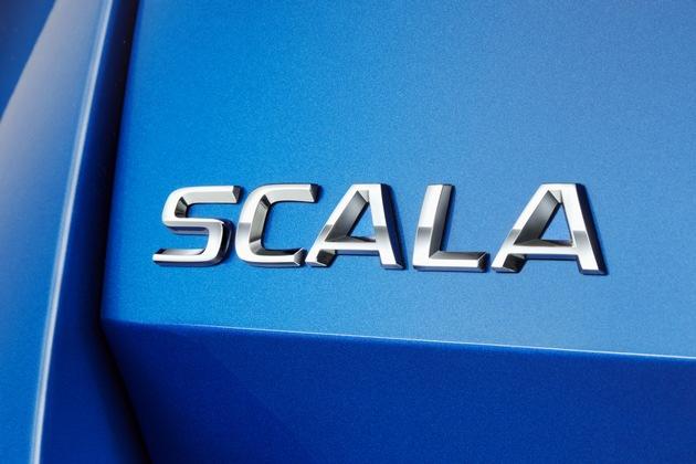 """SKODA SCALA: neuer Name für neues Kompaktmodell. Der Name stammt vom lateinischen Wort ,scala', zu Deutsch ,Treppe' oder ,Leiter', und steht für den nächsten Schritt nach vorne, den der tschechische Automobilhersteller mit seinem brandneuen Modell geht. Weiterer Text über ots und www.presseportal.de/nr/28249 / Die Verwendung dieses Bildes ist für redaktionelle Zwecke honorarfrei. Veröffentlichung bitte unter Quellenangabe: """"obs/Skoda Auto Deutschland GmbH"""""""