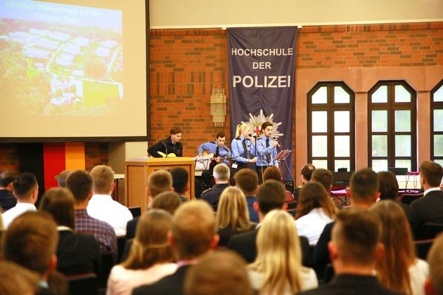 Studierende der Hochschule der Polizei Rheinland-Pfalz begleiteten die Veranstaltung musikalisch