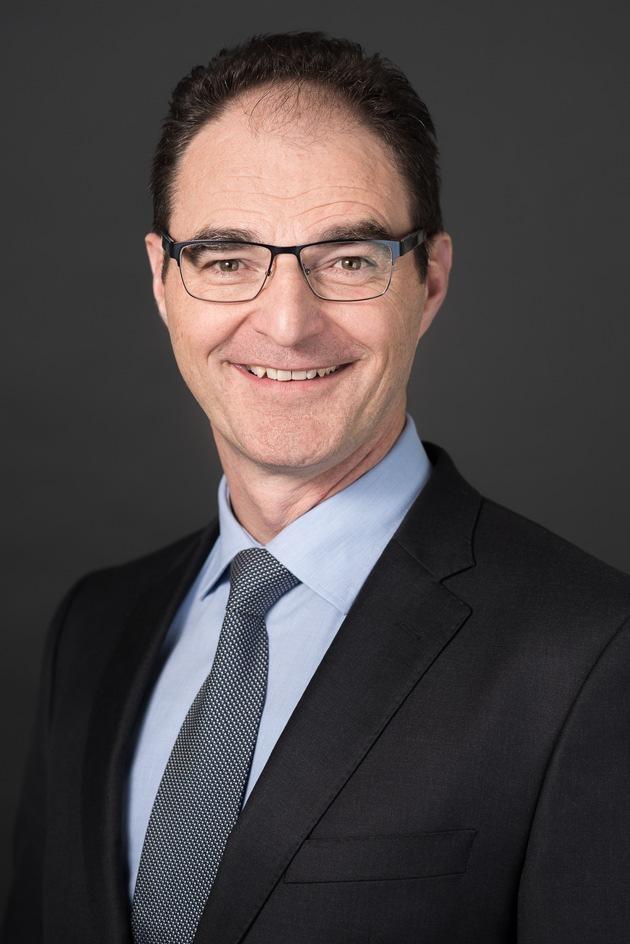 """Max Schönholzer, CEO della Sanitas Assicurazione Malattia / Testo complementare con ots e su www.presseportal.ch/fr/nr/100005121?langid=4 /  L' utilizzo di quest'immagine è gratuito per scopi redazionali. Pubblicazione sotto indicazione di fonte: """"obs/Sanitas Krankenversicherung/Andre Hengst"""""""
