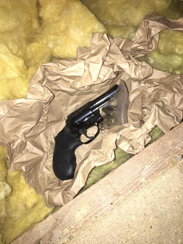 sichergestellter Revolver