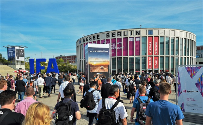 """IFA in Berlin is the world's leading trade show for consumer electronics and home appliances. It takes place from September 1 - 6 at the Berlin Exhibition Grounds. Please quote the source: """"obs/TVT.media GmbH"""""""