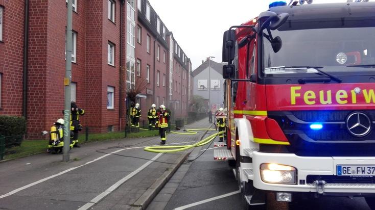 FW-GE: Wohnungsbrand im Stadtteil Neustadt - Ein Hund gerettet