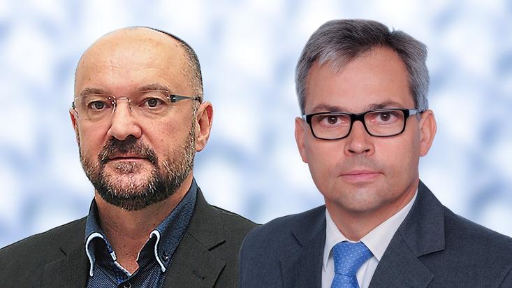 """Boris Sluka (à gauche) et Johann Eggerth (à droite). Texte complémentaire par ots et sur www.presseportal.ch/fr/nr/100012112 / L'utilisation de cette image est pour des buts redactionnels gratuite. Publication sous indication de source: """"obs/Vetropack Holding AG"""""""