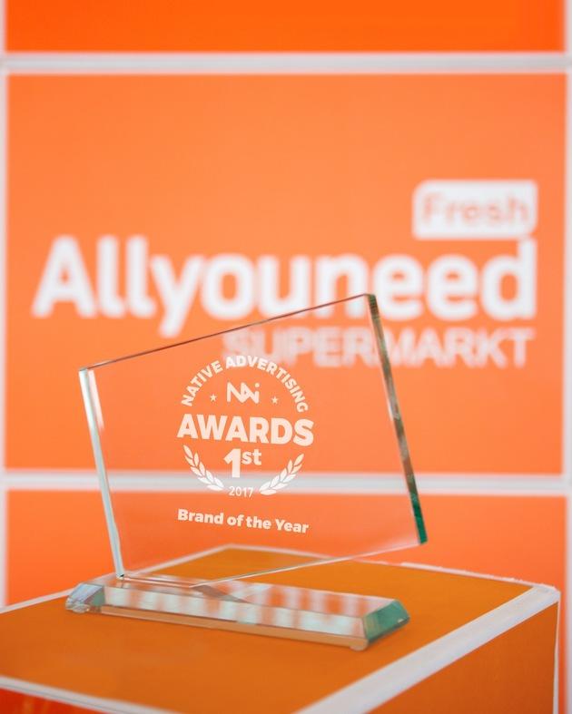 AllyouneedFresh ist Marke des Jahres