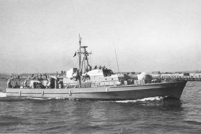 """Archivfoto: Schnelles Minensuchboot """"Schütze"""". Es war das erste Boot des Geschwaders. Foto: Deutsche Marine"""