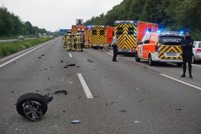 Trümmer auf der Autobahn