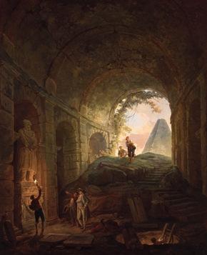 Hubert Robert (1733-1808), Les découvreurs d'antiques, 1765, Collections Musée de Valence, Art et Archéologie      © Musée de Valence, photo Philippe Petiot