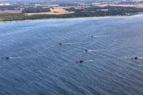 Die letzten Uboote der Klasse 206 A in Formation in der Eckernförder Bucht. Foto: Ann-Kathrin Fischer, PIZ Marine.