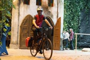 """Heute fiel der Startschuss für die Fahrrad-Tour """"Make Climate Great Again"""".  Bildnachweis: Voigts/Klimahaus"""
