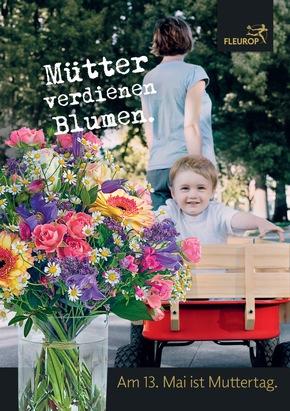 "Fleurop-Plakat ""Mütter verdienen Blumen"""