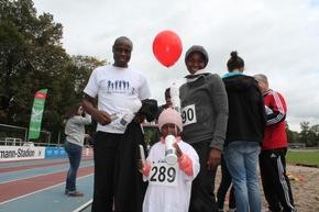 Viele Familien gingen gemeinsam beim Sterntaler-Spendenlauf für den guten Zweck an den Start.