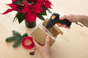 DIY-Tipp zum Nikolaustag - Last Minute-Mitbringsel: Weihnachtsstern in der Dose