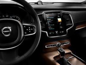 """La toute nouvelle Volvo XC90 First Edition de l'intérieur. Texte complémentaire par OTS et sur www.presseportal.ch/fr/pm/100002358 / L'utilisation de cette image est pour des buts redactionnels gratuite. Publication sous indication de source: """"OTS.photo/Volvo Car Switzerland AG"""""""