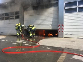 Zu Beginn war der Zugang zum Brand sehr schwierig