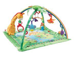 """Fisher-Price Rainforest Erlebnisdecke - Das Fisher-Price Testprogramm zeigt, was Eltern rund um den Spielzeugkauf beschäftigt Die Verwendung dieses Bildes ist für redaktionelle Zwecke honorarfrei. Veröffentlichung bitte unter Quellenangabe: """"obs/Mattel GmbH"""""""