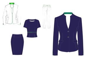 Aus der Konzeptphase der neuen Germania-Uniform © Germania, Ursula Muss